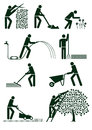 Gardening pictograms Royalty Free Stock Photography