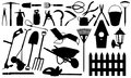 Gardening set of tools isolated Royalty Free Stock Images