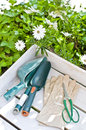 Gardening taken in a garden supplies Royalty Free Stock Photo