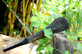 Gardening tools a big knife use for cut hard branches of tree Royalty Free Stock Images