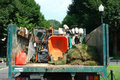Gardening Truck Royalty Free Stock Photo