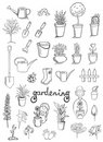 Gardening vector collection Stock Photos