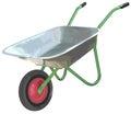 Gardening wheelbarrow on one wheel. The empty truck Royalty Free Stock Photo