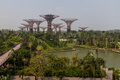 Gardens by the bay in singapore at marina sands hotel Royalty Free Stock Image