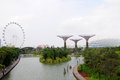 Gardens by the bay in singapore scenic view of Royalty Free Stock Photos