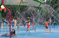 Gardens by the bay water park play area kids at at singapore s Royalty Free Stock Photo