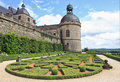 Gardens and Chateau de Hautefort, Perigord, France Stock Images