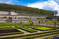 Gardens Chateau de Villandry, France Royalty Free Stock Photos