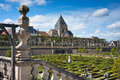 Gardens Chateau de Villandry, France Stock Photos