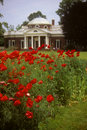 Gardens at Jefferson's home at Monticello Royalty Free Stock Photo