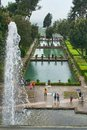 Gardens of villa deste rainy day in tivoli near rome italy on a Stock Photography