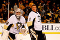 Gardiens de but de pittsburgh penguins Images stock