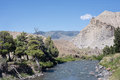 Gardiner river in montana Stock Images