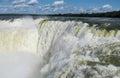 Garganta del Diablo waterfall sprays of Iguazu falls Royalty Free Stock Photo