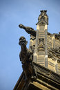 A gargoyle on the Cathedral Royalty Free Stock Photos