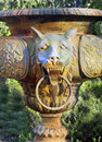 Gargoyle in the garden Royalty Free Stock Photo
