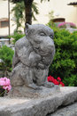 Gargoyle garden statue Royalty Free Stock Photo
