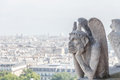 Gargoyle at notre dame of paris france selective focus Royalty Free Stock Image