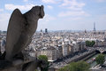 Gargoyle notre damme of paris cathedral Stock Images