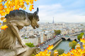 Gargoyle of  Paris Royalty Free Stock Photo