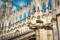 Gargoyle on the roof of Milan Cathedral Royalty Free Stock Photo