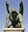 Gargoyle side Royalty Free Stock Photo