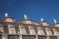 Gargoyles along the roof of cloth hall krakow poland Royalty Free Stock Photos