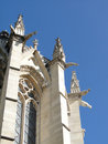 Gargoyles and spires Royalty Free Stock Photo