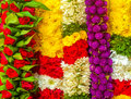 Garland of flowers mutiple colors flower Stock Image