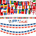 garland teams france soccer game Royalty Free Stock Photo