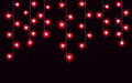 Garlands, Christmas decorations lights effects. vector design elements. Glowing lights for Xmas Holiday greeting card