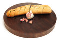 Garlic baguette Stock Photo