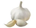 Garlic and cloves closeup Royalty Free Stock Image