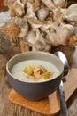 Garlic cream soup Royalty Free Stock Photo