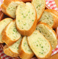 Garlic herb bread crusty and Royalty Free Stock Images