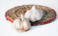 Garlic lying on a light background Stock Image
