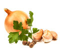 Garlic and onion Royalty Free Stock Photo