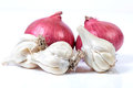 Garlic and onions Royalty Free Stock Photo