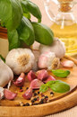 Garlic & Peppercorns Stock Images