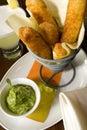 Garlic potato bakes Stock Images