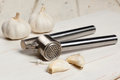 Garlic press Royalty Free Stock Image