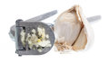 Garlic Press isolated against white Royalty Free Stock Photo