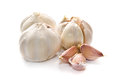 Garlic white background Royalty Free Stock Photos