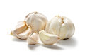 Garlic on a white background Royalty Free Stock Photos
