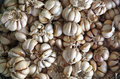 Garlics as background gourmet lifestyle Stock Photo