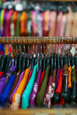 A garment in store bright colors Royalty Free Stock Image