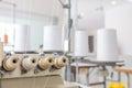 Garment weaver machine in factory Stock Photo