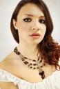 Garnet necklace Stock Images