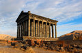 Garni temple the photo of former pagan roman in armenia Stock Image