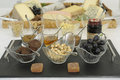 Garnished cheese buffet Stock Photography